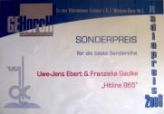Urkunde Gehorch 2008